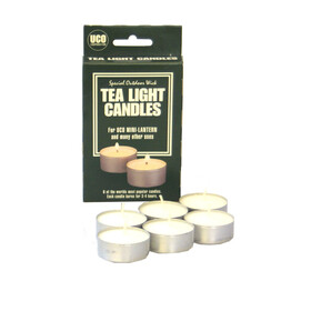 UCO tealights 6 pieces grey/white